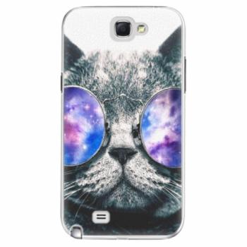 Plastové pouzdro iSaprio - Galaxy Cat - Samsung Galaxy Note 2