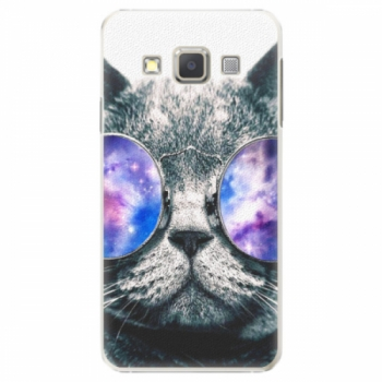Plastové pouzdro iSaprio - Galaxy Cat - Samsung Galaxy A7