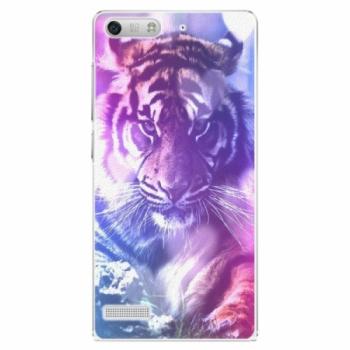 Plastové pouzdro iSaprio - Purple Tiger - Huawei Ascend G6