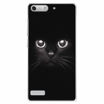 Plastové pouzdro iSaprio - Black Cat - Huawei Ascend G6