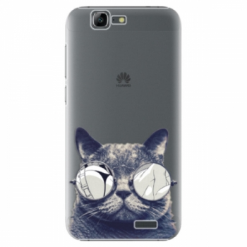 Plastové pouzdro iSaprio - Crazy Cat 01 - Huawei Ascend G7
