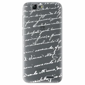 Plastové pouzdro iSaprio - Handwriting 01 - white - Huawei Ascend G7