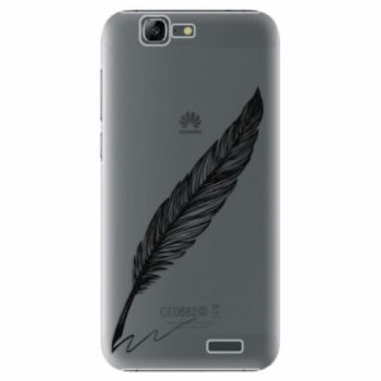 Plastové pouzdro iSaprio - Writing By Feather - black - Huawei Ascend G7