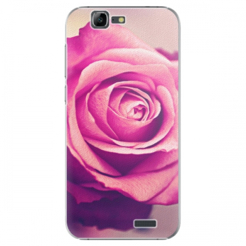 Plastové pouzdro iSaprio - Pink Rose - Huawei Ascend G7
