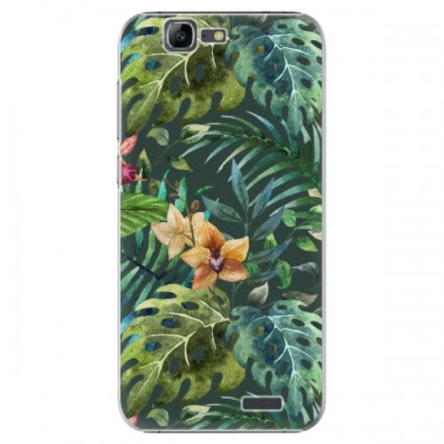 Plastové pouzdro iSaprio - Tropical Green 02 - Huawei Ascend G7