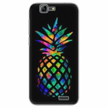 Plastové pouzdro iSaprio - Rainbow Pineapple - Huawei Ascend G7