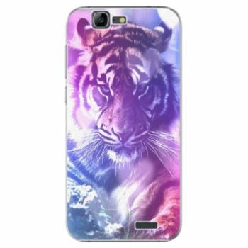 Plastové pouzdro iSaprio - Purple Tiger - Huawei Ascend G7