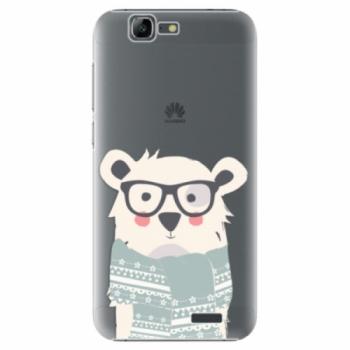 Plastové pouzdro iSaprio - Bear with Scarf - Huawei Ascend G7