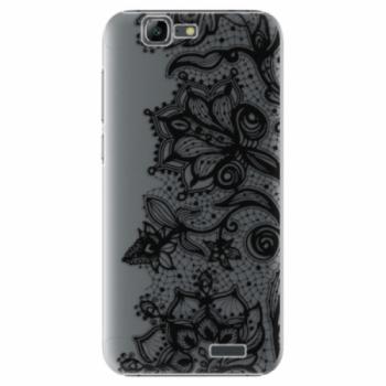 Plastové pouzdro iSaprio - Black Lace - Huawei Ascend G7