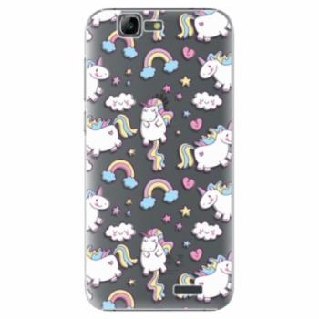 Plastové pouzdro iSaprio - Unicorn pattern 02 - Huawei Ascend G7