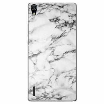 Plastové pouzdro iSaprio - White Marble 01 - Huawei Ascend P7