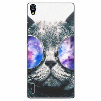 Plastové pouzdro iSaprio - Galaxy Cat - Huawei Ascend P7