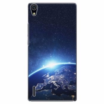 Plastové pouzdro iSaprio - Earth at Night - Huawei Ascend P7