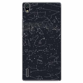 Plastové pouzdro iSaprio - Night Sky 01 - Huawei Ascend P7