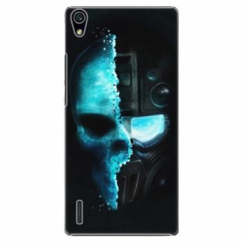 Plastové pouzdro iSaprio - Roboskull - Huawei Ascend P7