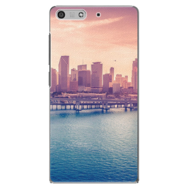 Plastové pouzdro iSaprio - Morning in a City - Huawei Ascend P7 Mini