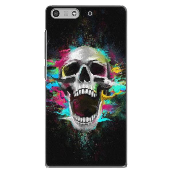 Plastové pouzdro iSaprio - Skull in Colors - Huawei Ascend P7 Mini