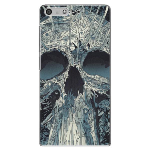 Plastové pouzdro iSaprio - Abstract Skull - Huawei Ascend P7 Mini