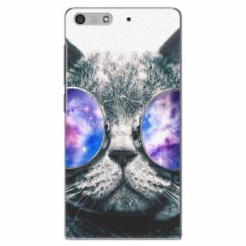 Plastové pouzdro iSaprio - Galaxy Cat - Huawei Ascend P7 Mini