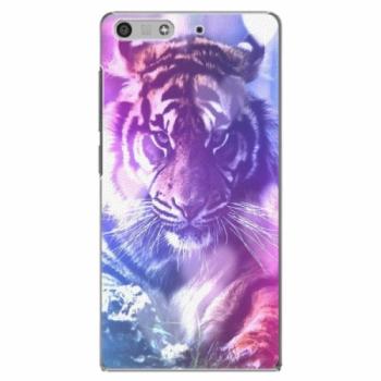 Plastové pouzdro iSaprio - Purple Tiger - Huawei Ascend P7 Mini