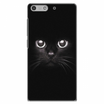 Plastové pouzdro iSaprio - Black Cat - Huawei Ascend P7 Mini