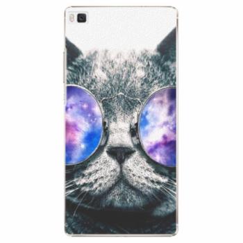 Plastové pouzdro iSaprio - Galaxy Cat - Huawei Ascend P8