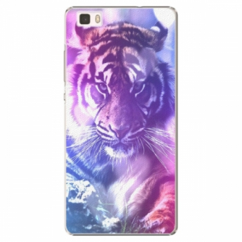 Plastové pouzdro iSaprio - Purple Tiger - Huawei Ascend P8 Lite