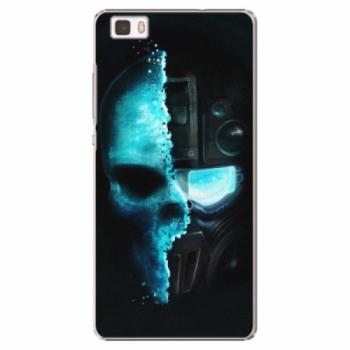 Plastové pouzdro iSaprio - Roboskull - Huawei Ascend P8 Lite