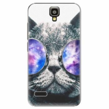 Plastové pouzdro iSaprio - Galaxy Cat - Huawei Ascend Y5