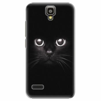 Plastové pouzdro iSaprio - Black Cat - Huawei Ascend Y5