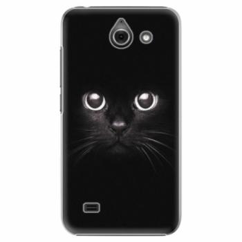 Plastové pouzdro iSaprio - Black Cat - Huawei Ascend Y550