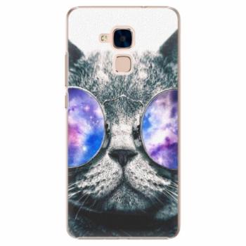 Plastové pouzdro iSaprio - Galaxy Cat - Huawei Honor 7 Lite