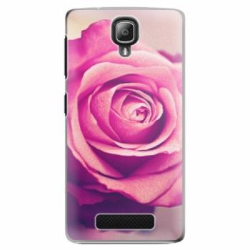 Plastové pouzdro iSaprio - Pink Rose - Lenovo A1000