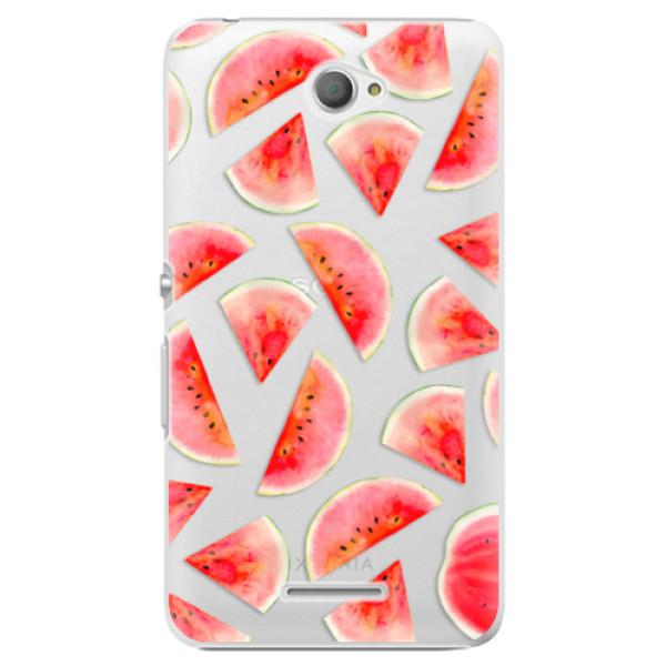 Plastové pouzdro iSaprio - Melon Pattern 02 - Sony Xperia E4