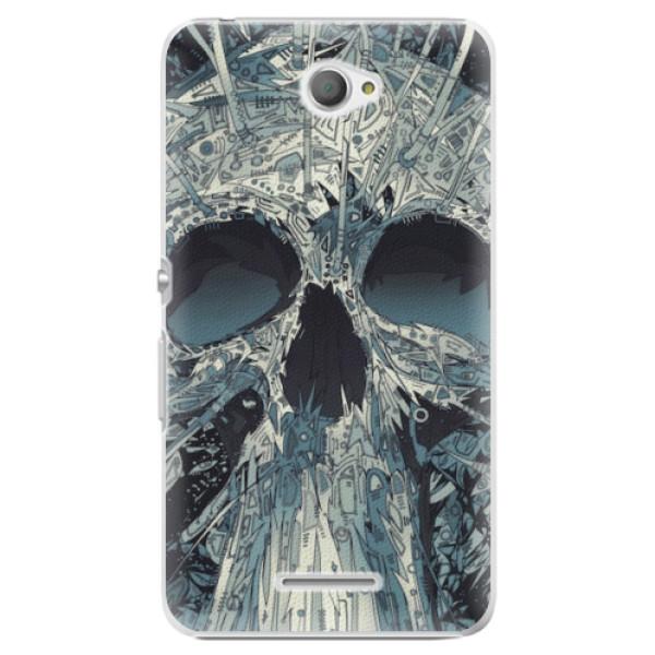 Plastové pouzdro iSaprio - Abstract Skull - Sony Xperia E4