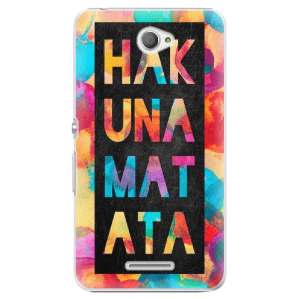 Plastové pouzdro iSaprio - Hakuna Matata 01 - Sony Xperia E4