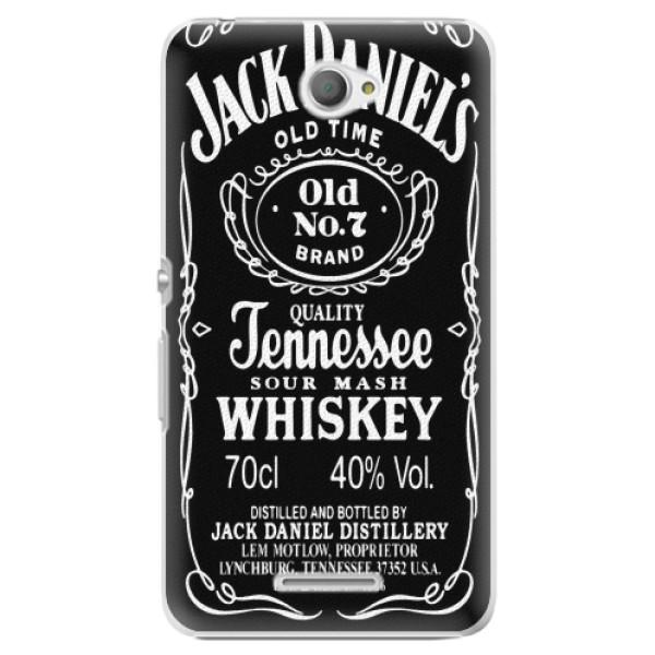 Plastové pouzdro iSaprio - Jack Daniels - Sony Xperia E4