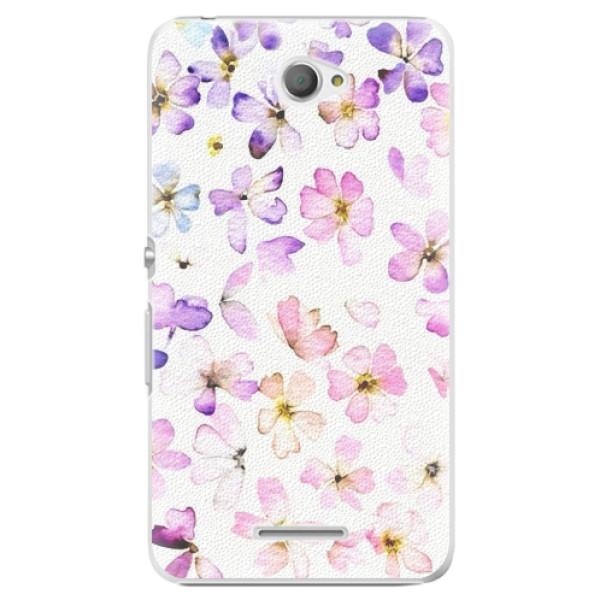 Plastové pouzdro iSaprio - Wildflowers - Sony Xperia E4