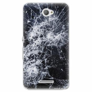 Plastové pouzdro iSaprio - Cracked - Sony Xperia E4