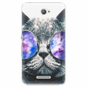 Plastové pouzdro iSaprio - Galaxy Cat - Sony Xperia E4