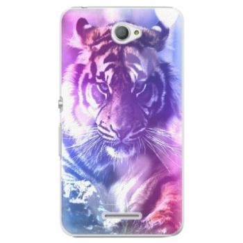 Plastové pouzdro iSaprio - Purple Tiger - Sony Xperia E4