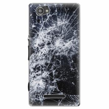 Plastové pouzdro iSaprio - Cracked - Sony Xperia M