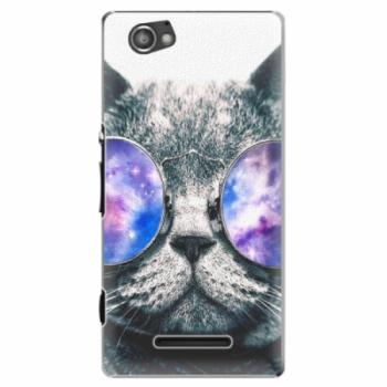Plastové pouzdro iSaprio - Galaxy Cat - Sony Xperia M