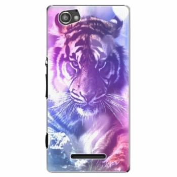 Plastové pouzdro iSaprio - Purple Tiger - Sony Xperia M
