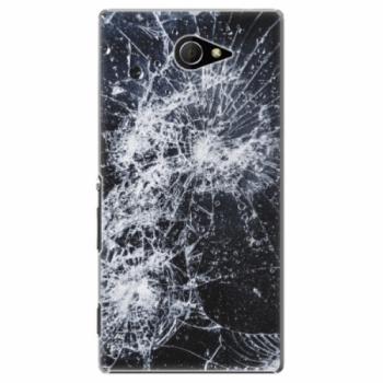 Plastové pouzdro iSaprio - Cracked - Sony Xperia M2