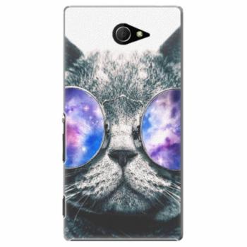 Plastové pouzdro iSaprio - Galaxy Cat - Sony Xperia M2