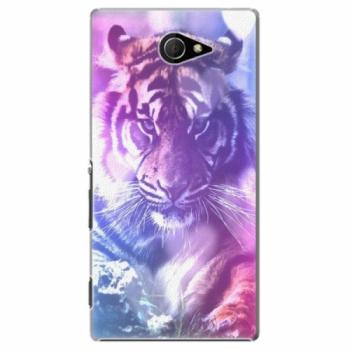 Plastové pouzdro iSaprio - Purple Tiger - Sony Xperia M2