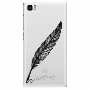 Plastové pouzdro iSaprio - Writing By Feather - black - Xiaomi Mi3