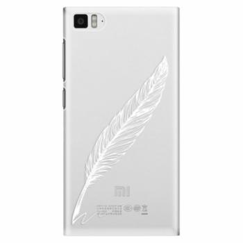 Plastové pouzdro iSaprio - Writing By Feather - white - Xiaomi Mi3