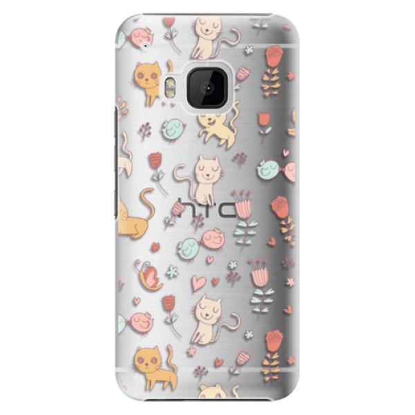 Plastové pouzdro iSaprio - Cat pattern 02 - HTC One M9